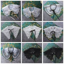 Mori embroidered fake collar children hundred lace decorative collar Korean version of the shirt collar fake collar large collar shawl fake collar.