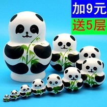 Panda doll Russia 10 layer belly painted animal hand-painted ten layer doll girl creative cute gift