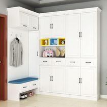 Custom shoe Nordic style hall cabinet combination of simple modern clothes cabinet multi-functional corner storage entrance wardrobe