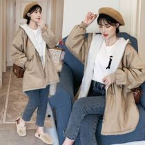 New pregnant women wear autumn and winter Korean version loose big code fat MM plus cotton thick cotton coat cotton coat warm coat