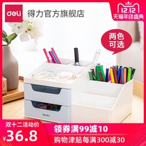 Delixi 8900 drawer storage box pen desktop finishing box two-color stationery office small objects