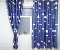 Kitchen hook simple small bay window telescopic rod Free punch curtain rope stars shade wardrobe bedroom