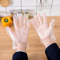 Gloves dishwashing housework kitchen one-time hygiene waterproof film plastic pe Beauty Hair Food gloves