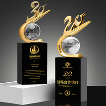10 20 30 40 50th Anniversary Metal Crystal Trophy is set to be presented at the Annual Meeting of Creative Enterprises.