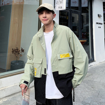 Frock coat men spring and autumn season 2019 new Korean version of the trend clothing ins handsome casual autumn and winter jacket