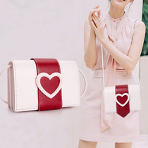 2019 new love female bag small CK shoulder messenger Tanabata Valentines day limited foreign style houndstooth fashion tide