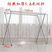 Round tube clothes rack floor folding clothes rack simple clothes rack indoor and outdoor bedroom hanger balcony drying rack