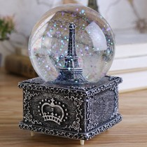 Snow House Christmas Crystal Ball night lights automatic snow Music Box Music Box Sky City creative gifts