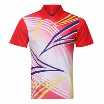 2019 spring and summer badminton mens lapel shirt shirt quick-drying sports short-sleeved can be customized