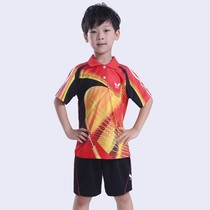 Table tennis clothing childrens short-sleeved training sports jersey quick-drying summer competition training clothes printing printing number