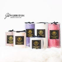 JK mu space export special dark pattern ice pattern candle set tabletop high-end smokeless scented candle gift box