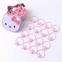 Childrens headdress hair rope cartoon hair ring gift boxed baby hair small leather ribs safe not to hurt other jewelry.