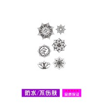 Little daughter xixi OM Yoga tattoo stickers Mandala Lotus black and white seven chakra sweat waterproof durable