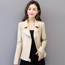 2019 Spring New Haining leather lady small Leather skinny Korean version sheep skin display skinny coat big yard tide