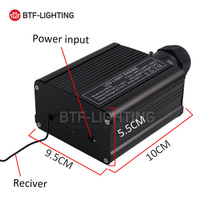 rgbw-Fiber Optic light source 18W power black touch button RF RF DC12V light Machine