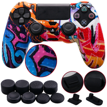 New pimple ps4 handle silicone sleeve PS4 silicone sleeve ps4 handle protective sleeve to send rocker cap dust plug