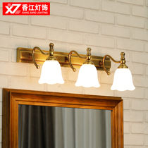 European toilet mirror front light bathroom mirror cabinet lamp American toilet mirror lamp van light makeup lamp wall lamp.