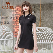 Camel sports dress female spring and summer 2019 new fashion POLO collar skirt casual waist skirt
