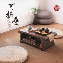 Folding Kang Table Tea Room tatami table solid wood bay window small coffee table Zen Japanese-style balcony low table table simple