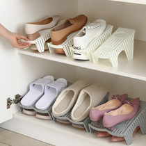 Household double-layer shoes storage rack plastic one-piece shoe care simple modern living room wardrobe simple storage shoe rack