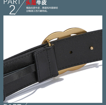 Net red with the paragraph leather belt ladies decorative simple wild ins wind fashion belt jeans with skirt fine