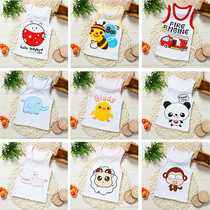 Childrens vest cotton boy vest cotton girl cartoon vest summer thin section children sleeveless bottoming vest