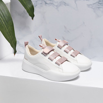 Want to Sichuan 2019 summer new womens shoes small white shoes female Velcro thick bottom sports shoes female net red board shoes