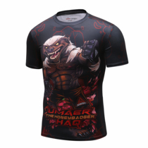 MMA fight fighting clothes boxing Muay Thai short-sleeved fitness training comprehensive anti-coat quick-drying sportswear