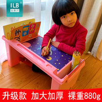 Baby early education Table children learn small desk plastic student writing desk bed lazy computer table dining table