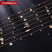 Minority design Crown tassel anklet female sexy Korean simple tide personality girlfriends sister chain network red foot ornaments