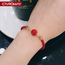 This year fine red rope bracelet female Korean temperament chic couple fresh hand ring mori bracelet sister chain Jewelry
