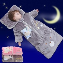 Baby sleeping bag baby autumn and winter thickening newborn baby sleeping bag winter anti-kick was spring and autumn thin section 0-6 years old