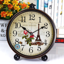 Compaq clock living room bedroom home clock desk with alarm clock creative Nordic fashion style big words