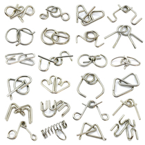 Nine chain de-ring intelligence de-ring puzzle ring lock de-ring student adult full set of iron ring de-ring set Toys