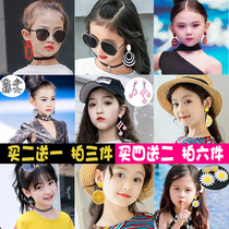 Childrens earrings ear clip catwalk childrens earrings fashion girls no ear hole earrings Korean princess holiday photo ear