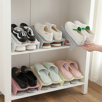 Household shoes storage artifact dormitory plastic shoe rack shoe cabinet space-saving shoe care finishing storage racks BV type