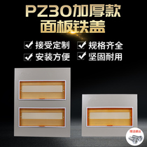 PZ30 distribution box iron panel plastic cover light and dark 4 12 15 18 20 24 circuit single and double row cover