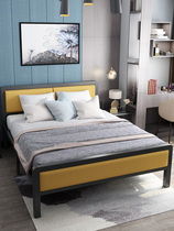 Simple modern iron bed simple iron frame single double bed 1 5 M apartment bed personality Nordic children adult bed