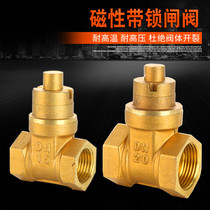 Magnetic lock copper gate valve encryption with lock water meter front valve water pipe anti-theft key heating switch