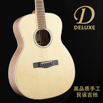 Deluxe folk guitar single board electric box plug-in dual-use 40-inch refers to the name of the ballad surface single spruce wood guitar