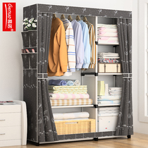 Simple wardrobe cloth wardrobe simple modern dormitory bedroom cabinet economy home Assembly wardrobe student