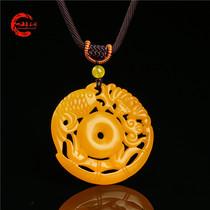 Huanglong Jade wealthy pendant blessing more than batfish Jade Fortune fortune rolling sweater chain wealthy pendant