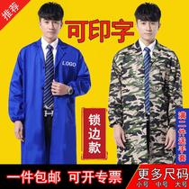 Gown camouflage thickened Blue Mens overalls for adults to work to wear gowns factory large yards carrying clothes