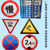 Custom traffic signs stop signs speed limit signs reflective signs round signs slow parking sign