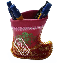 Inner Mongolia crafts Inner Mongolia specialty gift Boots type pen holder Yurt National crafts