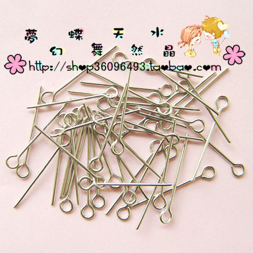 Silver white K-color 26MM9 needle 9 needle handmade earrings hair tweezers DIY accessory material 50.