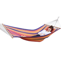 MUXINCAMP Outdoor with a stick canvas hammock indoor single leisure swing widening thickening 1 meter wide