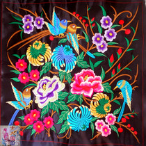 Embroidery embroidery pieces Yunnan national characteristics embroidery embroidery ethnic characteristics embroidery embroidery embroidery embroidery Chrysanthemum bird