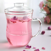 Promotion 30 days beauty cup heat-resistant glass tea set teapot flower herbal tea three-piece Mark beauty office use.