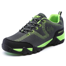 Spring outdoor men's shoes breathable net shoes women's shoes hollow net top climbing shoes summer couple shoes hiking travel shoes men